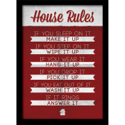 House Rules - Framed 30x40cm Print
