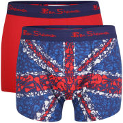 Ben Sherman Men's 2-Pack Union Jack Boxer - Multi/Red