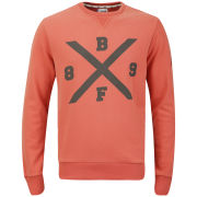 Boxfresh Men's Haani Crew Neck Sweatshirt - Aurora Red