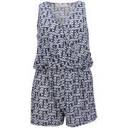 Brave Soul Women's Art Playsuit - Blue