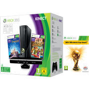 Xbox 360 4GB Kinect Holiday Bundle (Includes 2014 FIFA World Cup, Kinect Adventures, Kinect Disney Land Adventures, 1 Month Xbox Live)