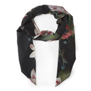 Ted Baker Opulent Bloom Print Slim Scarf - Black