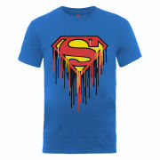 DC Comics Men's T-Shirt - Superman Drip Logo - Royal Blue