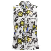 Opening Ceremony Women's Palm Collage Reverse Placket Top - Summer Yellow