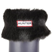 Hunter Women's Soft Furry Cuff Welly Socks - Panther Black