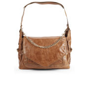 BOSS Orange Riana-C Chain Detail Leather Shoulder Bag - Medium Brown