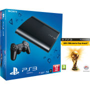PS3: New Sony PlayStation 3 Slim Console (12 GB) - Black (Includes 2014 FIFA World Cup Brazil)