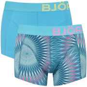Bjorn Borg Men's Seasonal Solids 2 Pack Boxer Shorts - Storm Blue