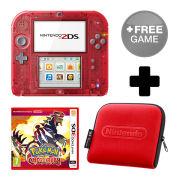Nintendo 2DS Transparent Red Pokémon Omega Ruby Pack