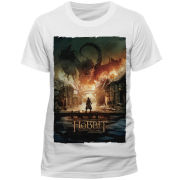 The Hobbit Battle of the Five Armies Men's T-Shirt - Smaug Poster