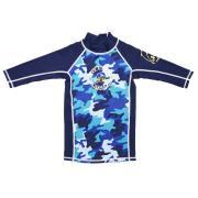Jakabel Surfit UVP 3/4 Sleeve Top - Blue Camou