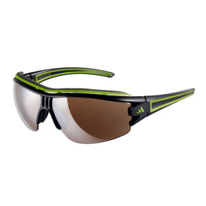 Adidas Evil Eye Halfrim Pro Sunglasses - Shiny Black/Green - L