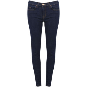 J Brand Women's Mid Rise Skinny Jeans - Pure