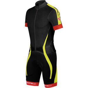 Castelli Velocissimo Sanremo Speedsuit - Black/Yellow