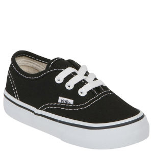 Vans Toddlers' Authentic Canvas Trainers - Black
