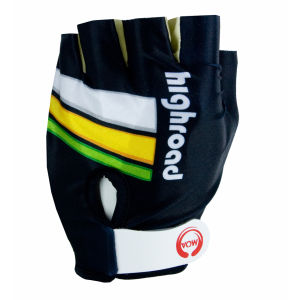 Team HTC Highroad Lycra Cycling Gloves (Mitts) - 2011