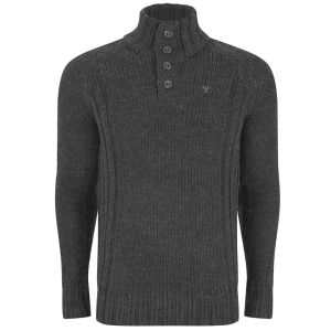 Ringspun Men's Tomales Funnel Knit - Charcoal Marl