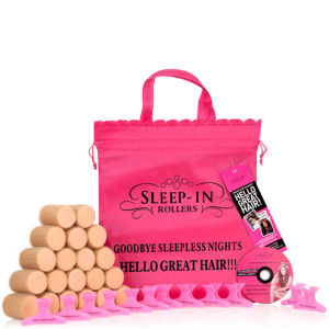 Sleep In Rollers Promotional Kit (2 packs of Nude Rollers, Tutorial DVD, Pack of Clamps in Iconic Pink Tote Bag)