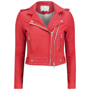 IRO Women's Leather Luiga Jacket - Red