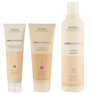 Aveda Farberhaltendes Haarpflege Trio Colour Conserve Shampoo, Conditioner & Strengthening Treatment