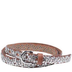 Markberg Rachel Leather Studded Belt - Dijon
