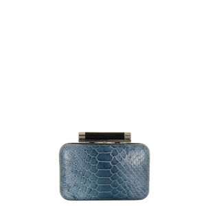 Diane Von Furstenberg Women's Tonda Small Embossed Python Clutch Bag - Twilight