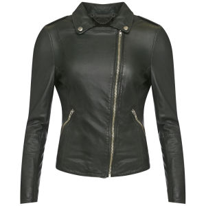 Muubaa Women's Carmona Biker Jacket - Bottle Green