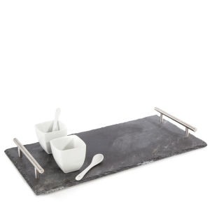 Natural Living 7 Piece Slate Cheese Set