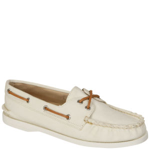 Sperry Women's AO 2-Eye Twill Shoe - White