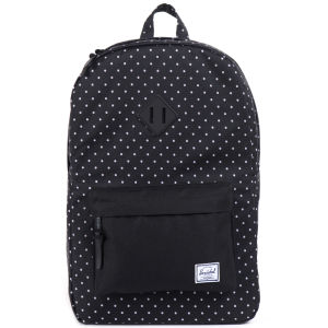Herschel Heritage Polkadot Backpack - Black