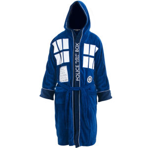 Doctor Who Blue Tardis Towelling Robe with Hood