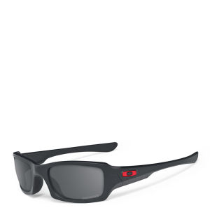 Oakley Men's Fives Squared Matte Iridium Polarized (ducati) Sunglasses - Black
