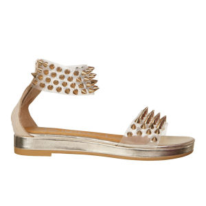 Jeffrey Campbell Women's Largos Spike Shoes - Clear Gold