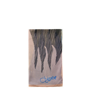 Diane von Furstenberg Fire Wave Washed Chiffon Scarf - Fire Wave Happy Blue