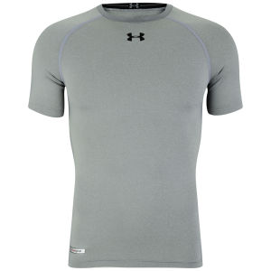 Under Armour Men's Heatgear Sonic Compression T-Shirt - True Grey/Heather/Black