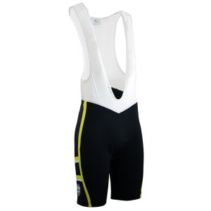 Bianchi Rometta Cycling Bib Shorts - Black/Yellow