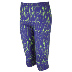 RonHill Women's Aspiration Connect Base Print Capri Tights - Plum/Fluorescent Green