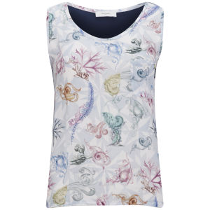 Paul by Paul Smith Women's Marine Print Vest Top - Light Blue