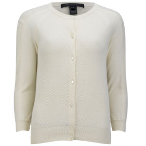 Marc by Marc Jacobs Women's Sybil Pieced and Panelled Cardigan - Antique White