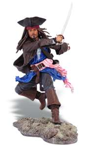 Pirates Of The Caribbean: Super Deluxe Figure Wave 1 Jack Sparrow Figure