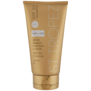 St. Tropez SPF 20 Body With Tan Enhancer (150ml)