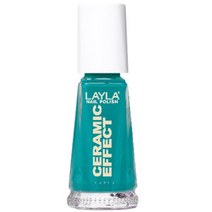 Layla Cosmetics Ceramic Effect Nail Polish N.42 Miami Green (10ml)