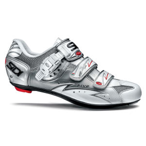 Sidi Five Vernice Cycling Shoes - Steel/White 2014