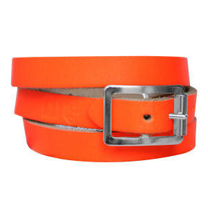 Anna Lou of London Limited Edition Leather Wrap Around Bracelet - Neon Orange