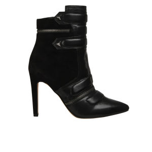 Sam Edelman Women's Margo Leather Heeled Boots - Black