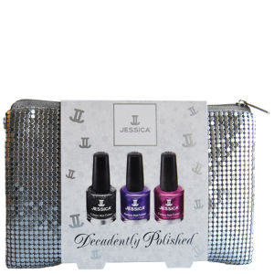Jessica Nails Decadently Polished Silver Pouch Trio