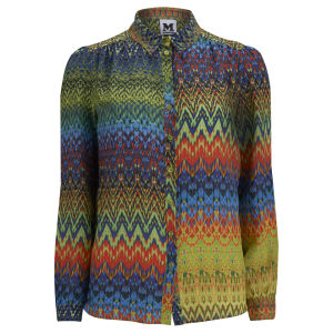 M Missoni Women's Silk Chevron Shirt - Multi