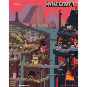 Minecraft World - Mini Poster - 40 x 50cm