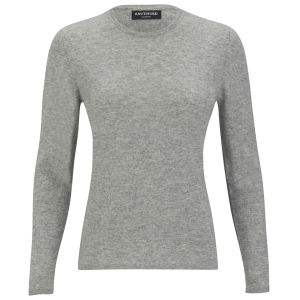 Knutsford Women's Crew Neck Cashmere Sweater - Silver Grey