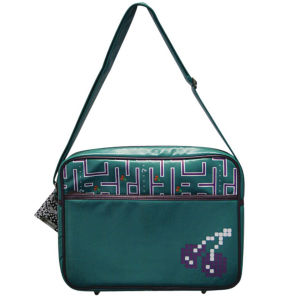 Joystick Junkies: Green and Purple Pixel Cherry Flight Bag 13.4 Inch